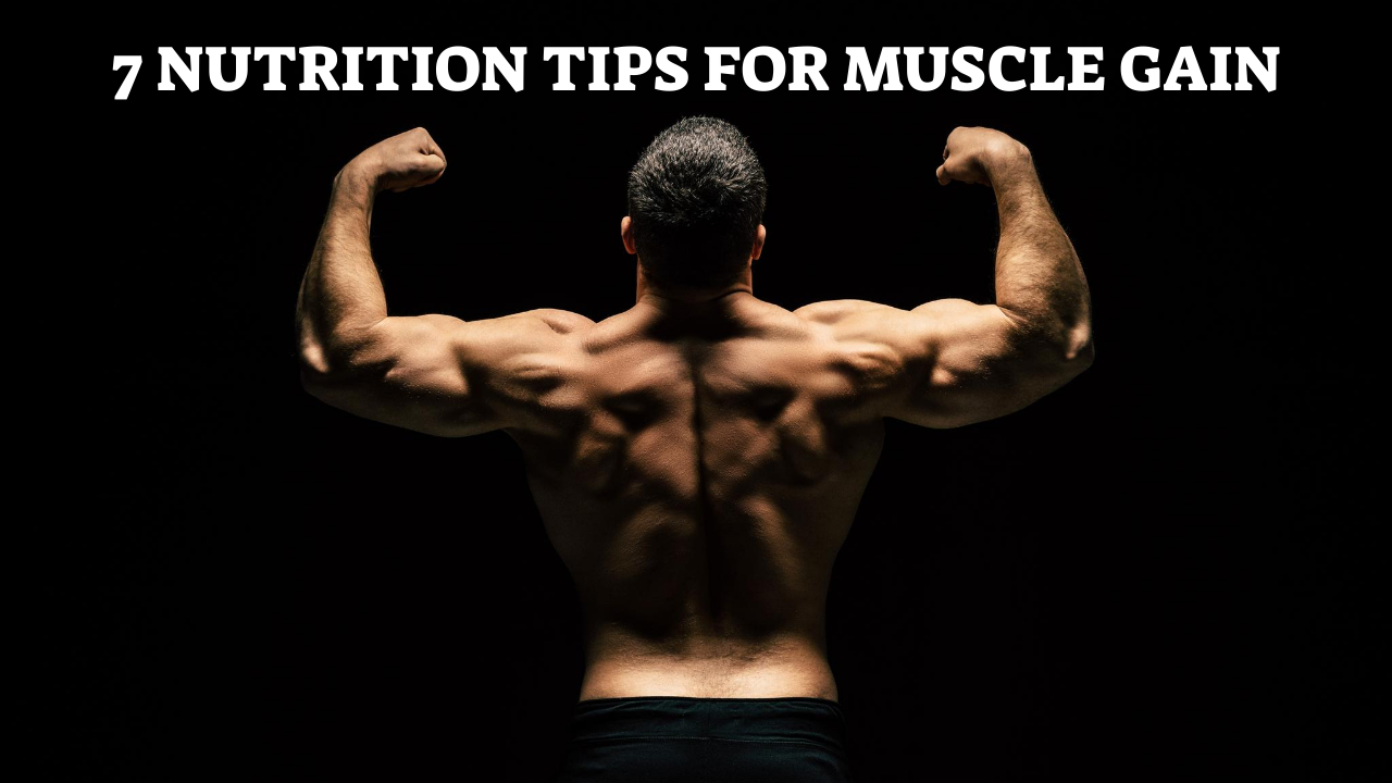 7 Nutrition Tips For Muscle Gain